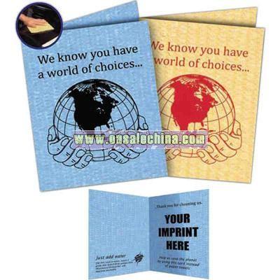 Compressed sponge cloth card