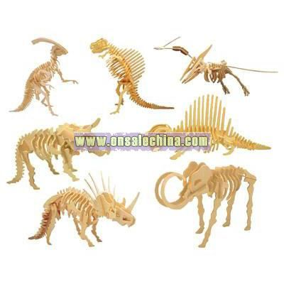 3D Wooden Puzzle Toy-Dinosaurs