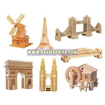 3D Puzzle Wooden Building