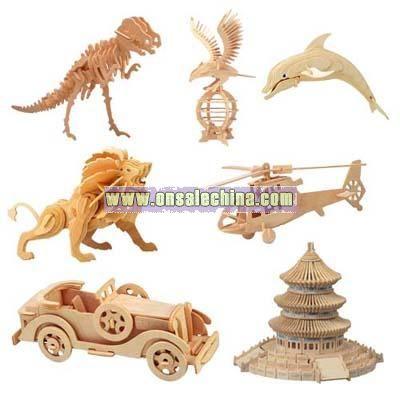 3D Puzzle Animal & Building