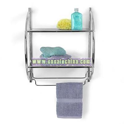 Double Shelf Towel Rack