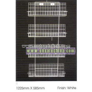 4 Tier Wire Shelf Rack