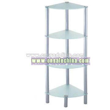 Four-Tier Glass Corner Rack
