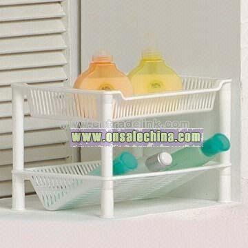 2-Tier Plastic Rack