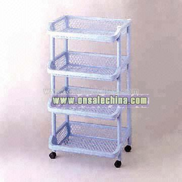 Green or Blue Plastic Cart (4 Tiers)