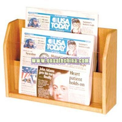 Wood Newspaper Holder