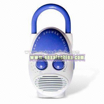 Mini Shower Radio with Built-in Speaker and Mini Flashlight