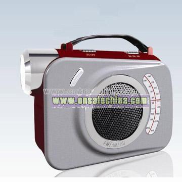 Energy-Saving Wind Up LED Torch Flashlight Lantern Radio Outdoor Lighting