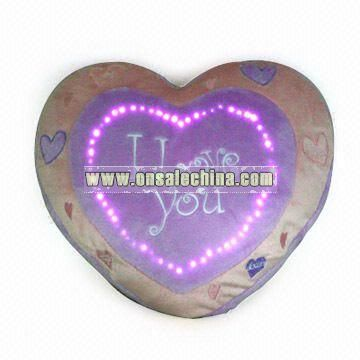 Plush Heart Shape Radio with Fiber Optics Lights and 87.8 to 108.4MHz Band Coverage