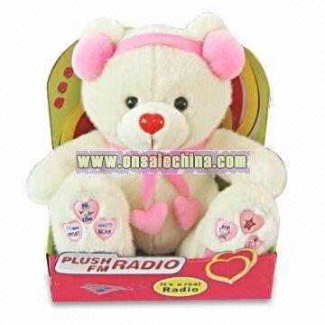 Plush Bear Radio for Valentine's Day