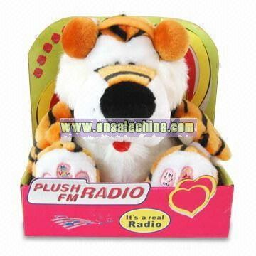 Plush and Stuffed Toy Tiger FM Scan Radio