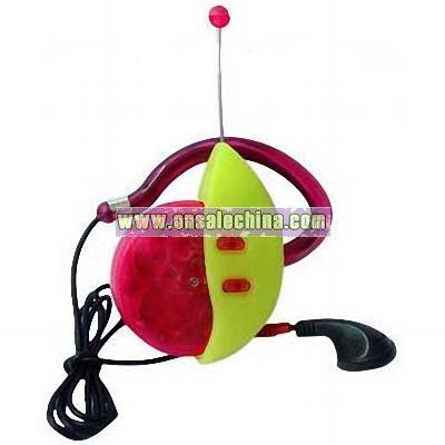 FM scan Ear-Clip Radio