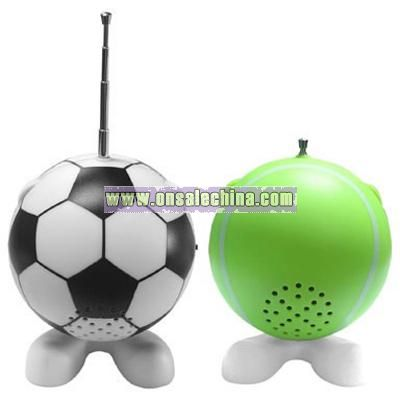 Sports Ball Design Radio