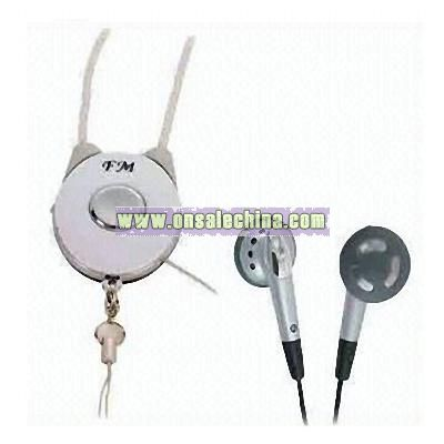 FM Radio Earphone with Neck Strap