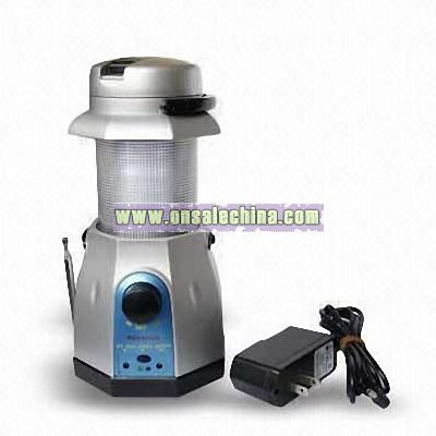 Fordable Wind-up Camping Lantern Radio