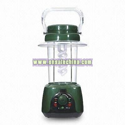 Spiral Lamp Rechargeable Emergency Lantern with FM Scan Radio