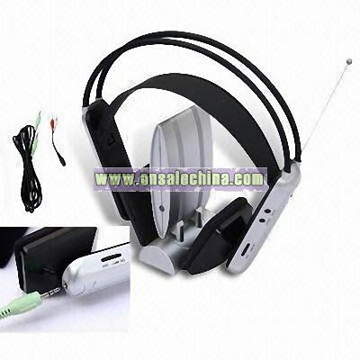 Wireless Headphone with Radio and Audio Output