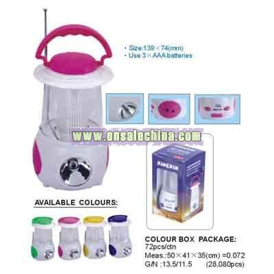LED Lamp with Torch Radio Speaker