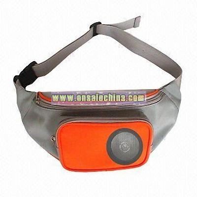 Waist Bag with One Front Radio Speaker Pocket