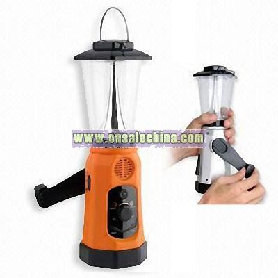 Cranking Light Radio with Mobile Phone Charger and Siren Function
