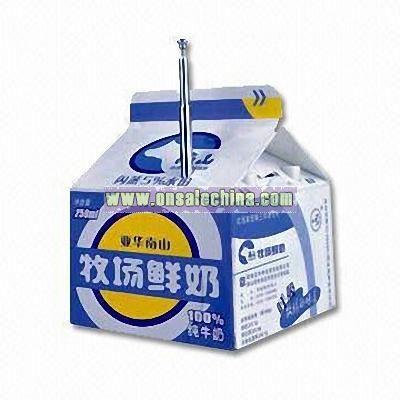 Radio in Milk Box Shape