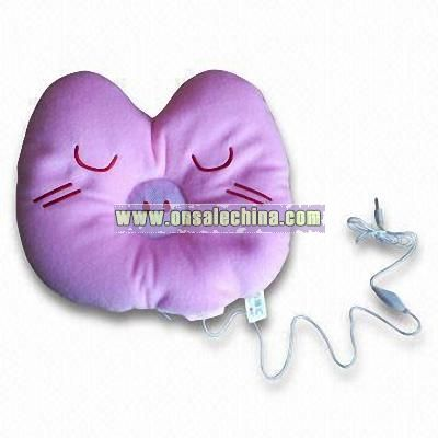 Novelty Radio Neck Pillow with Connector for MP3 Player