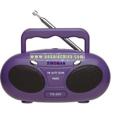 Mini Cartoon Tape Recorder FM Auto Scan Radio