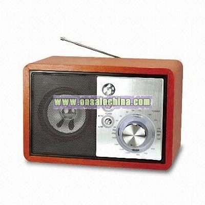 AM/FM Wooden Radio