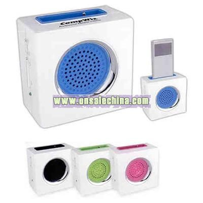 Radio with speaker for MP3 players