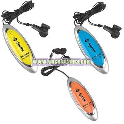 Hi-tech FM scanner with belt clip on back