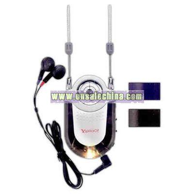 AM/FM radio with earphones LED light