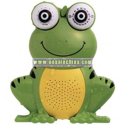 AM/FM frog shaped shower radio