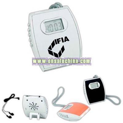 FM scan radio with alarm and light