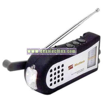 Dynamo Waterproof AM/FM radio with Flashlight