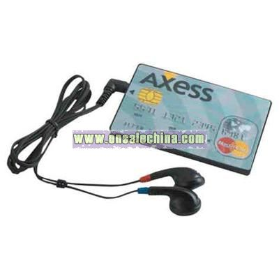 Credit card shape auto scan FM radio