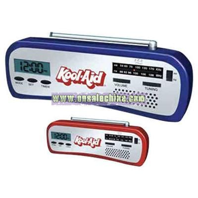 Countertop clock radio with alarm and timer