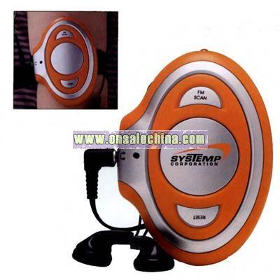 Armband FM scan radio with light
