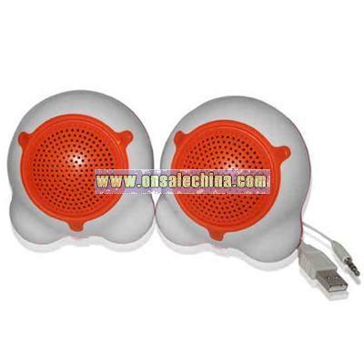 USB mini speaker with built-in FM radio