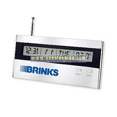Executive desktop alarm clock radio