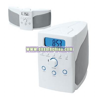 FOLDABLE SPEAKER SYSTEM WITH DIGITAL SCAN RADIO AND ALARM CLOCK
