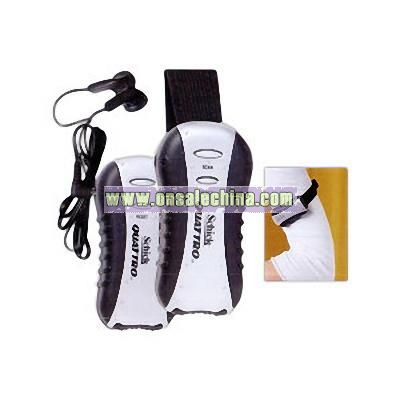 Customized Arm band radio with comfortable ear buds