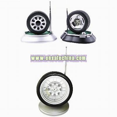 Tyre Shaped Radio Clock