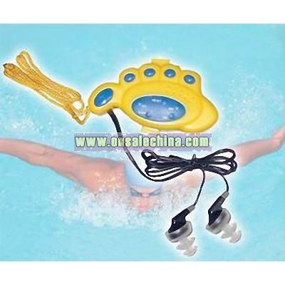 Foot Shape Swimming Radio