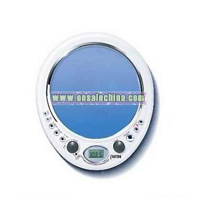 Shower AM/FM Radio with Mirror