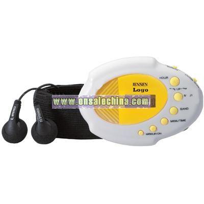 Digital AMFM Stereo Armband Radio with Clock