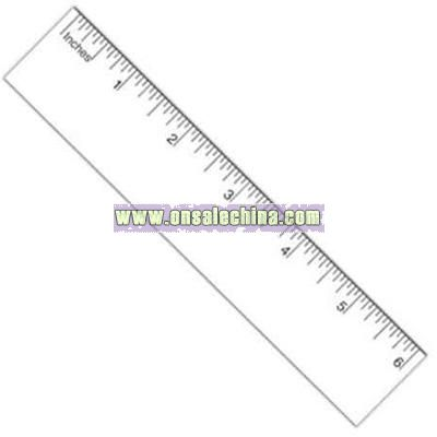 Ruler magnet with laminated surface
