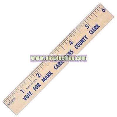 Natural finish flat wood ruler