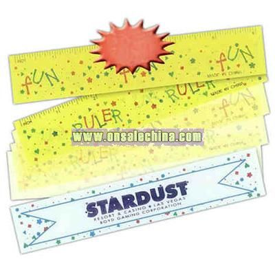 Lenticular ruler with the words fun and ruler alternating with each movement