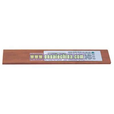 Rosewood ruler with calculator