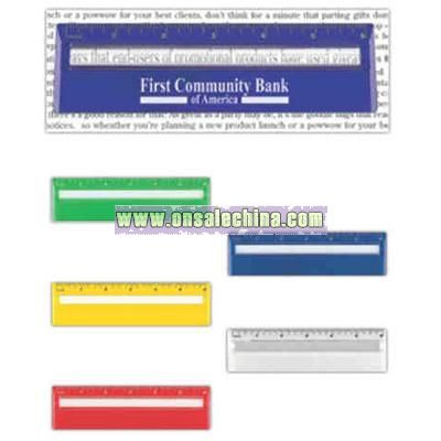 3 6 inches on ruler. Handy sized 6 inch ruler with